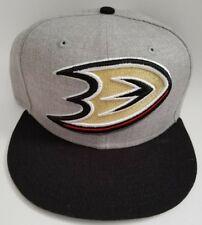 NHL Anaheim Ducks New Era Heather Grand Adjustable Snapback Gray Black Hat