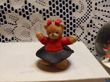 Enesco Lucy & Me Teddy Bear Girl with Black Skirt-dancing Ceramic Figurine