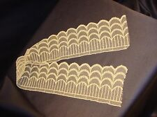 "Antique Victorian Off White Lace Trim 3"" by 22"" Good Condition"