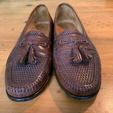 MEN'S CRAFTED FOR NORDSTROM'S BASKET WEAVE LOAFERS IN BROWN SIZE 10.5 M