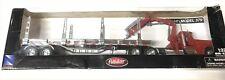 IN BOX 1:32 PETERBILT MODEL 379 SEMI-TRACTOR TRAILER FLATBED LONG HAULER RED