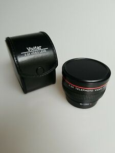 Multicoated Vivitar Telephoto Video Lens 2.0X with case. Excellent.