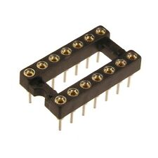 5 W+P PRODUCTS IC-Sockel 14-polig Präzision gedreht vergoldet IC-Fassung 087937