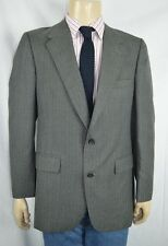 Vtg Bill Blass Gray Striped 2 Btn Sport Coat Men's Sz 42R USA Office Wear Work