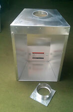Large Gather gas flue liner twin wall tapered collector box for inset fires