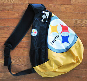 Pittsburgh Steelers BackPack / Back Pack Book Bag NEW - TEAM COLORS - SLING