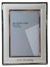 SILVER PLATED 18TH BDAY FRAME 4X6
