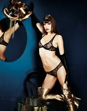 Agent Provocateur GINA BRA 34DD & BRIEF in BLACK TULLE & GOLD - BNWT
