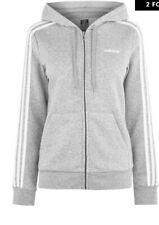 Neues AngebotAdidas Essential 3 Stripe Zip Hoody Damen BRANDNEU Größe L (16-18) grau