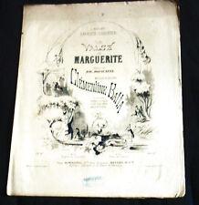 la valse de Marguerite partition piano chant 1860 Clémentine Batta