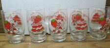Strawberry Shortcake Juice Glasses Glass Set Vintage 1980 American Greetings