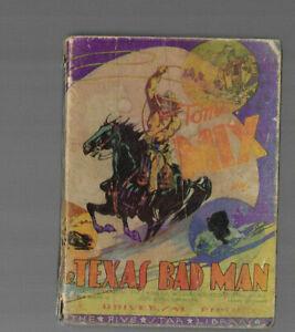 VINTAGE BIG LITTLE BOOK TYPE TOM MIX Texas Bad Man 1934 Engel van Wiseman Co