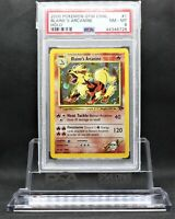 Blaine's Arcanine Holo Pokemon Card Unlimited Gym Challenge 1/132 PSA 8 NM-MINT