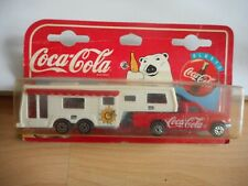 "Majorette Camping Car + Camping Car Deluxe ""Coca Cola"" in White/Red on Blister"