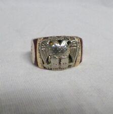 10K Gold Masonic Ring 32nd Degree Mason Compass Size 11 (13.19 grams)