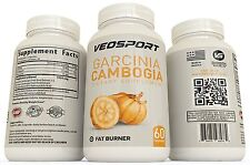 VEOSPORT Garcinia Cambogia Extract - Proven Appetite Suppressant with HCA 60 ct
