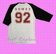 selena gomez 92 shirt tshirt tee clothing tour concert baseball raglan S,M,L