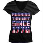 Running This Sh*t Since 1776 - USA Pride Flag  Patriotic Juniors V-neck T-shirt