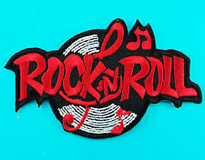 ROCK N ROLL Music Logo Band Embroidery Iron Sew On Jacket Hat Patch Applique New