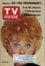 1963 TV Guide April 6 - Decade in Pictures of TV; Lucille Ball; The Dakotas