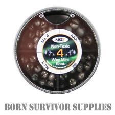 MINI 4 WAY - Non-Toxic Split Shot Lead Weights Dispenser Survival Fishing Kit