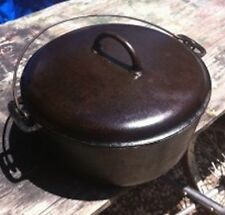 Vintage Antique Griswold Cast Iron Dutch Oven No. 10 and 835, Lid is marked 2553