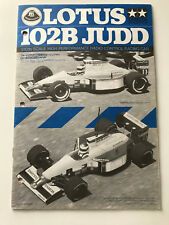 Original Tamiya RC Instruction Manual - Lotus 102B JUDD 58095 1991