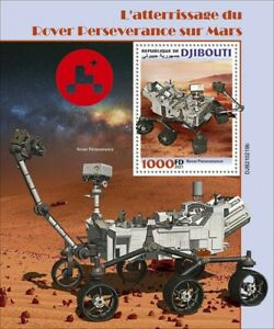 Djibouti 2021 MNH Space Stamps Rover Perseverance Mars Landing 1v S/S