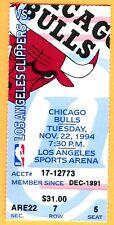 11/22/94 CHI BULLS/LA CLIPPERS TICKET STUB