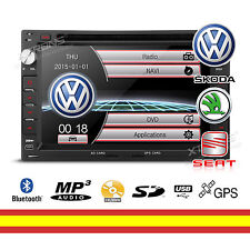 Autorradio para Seat Skoda VW Bluetooth Gps Radio CD DVD Soporta Mirroring