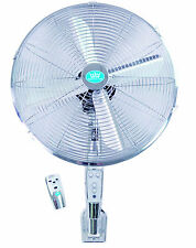 """EH1574 16"""" (40 cm) Chrome Wall Fan with Remote Control and Timer"""