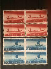 SCOTT #437-438 1963 NORWAY BLOCK OF 4 STAMPS MNH