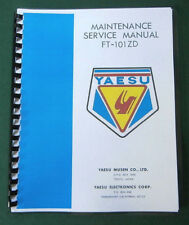 "Yaesu FT-101ZD  Service Manual: 11"" X 17"" Foldout Diagrams & Card Stock Covers!"