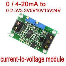 current to voltage 0/4-20mA to 0-2.5V 3.3V 5V 10V 15V 24V Spannung transmitter