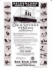 Vintage ad 1926 Red Star Line World Cruise New York International Mercantile