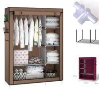 "Heavy Duty 67"" Portable Closet Storage Organizer Wardrobe Clothes Rack Shelf US"
