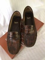 IMPO Devon Coffee Croc-Embossed Leather Penny Loafers Walking Shoes
