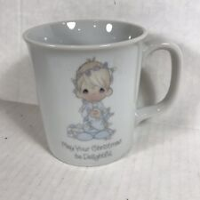 Precious Moments May Your Christmas Be Delightful Ceramic Mug Sam Butcher 1985