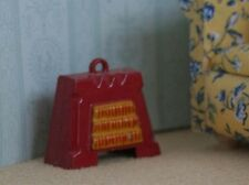 Non Working Red Electric Fire, Dolls House Miniature, Fireplace 1.12 scale