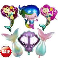 Large Mermaid Foil Balloons Baby Shower Girls Happy Birthday Party Decoration