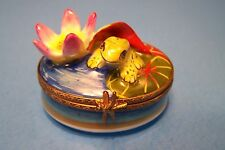 Frog With Flower/ Pad authentic French Limoges Box ( New )
