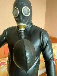 GASMASKE ATEMBEUTEL 1 - 3L FUER LATEX MASKE Breathing bag for Gas mask