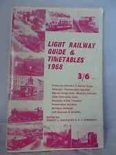 Light Railway Guide & Timetables 1968 - Illustrated