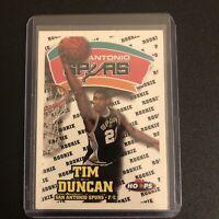 1997-98 NBA Hoops #166 Tim Duncan San Antonio Spurs RC Rookie Basketball Card