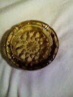 Vintage Mid Century Amber Glass Ashtray Cigarette Cigar Large Sunburst