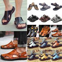 Men's Casual Sandals Summer Beach Flip Flops Slip On Shoes Walking Slippers Size