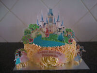 Personalised Disney Princess Castle Scene Wafer Edible Cake Decoration Set