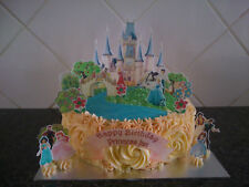 Personalised Disney Princess Castle Scene Wafer Edible Cake Decoration Set