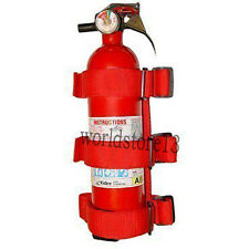 Truck inner Roll Bar Fire Extinguisher Holder Safety Acc-Red For Jeep Wrangler