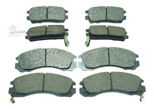 FRONT AND REAR BRAKE DISC PADS SET NEW FOR MITSUBISHI PAJERO IMPORT 1993-1999